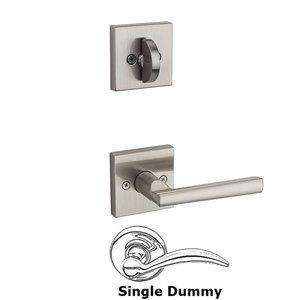 Kwikset Door Hardware Montreal Square Interior Inactive Handleset Trim Reversable Door Lever Inside Dummy Trim In Satin Nickel