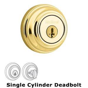 Kwikset Door Hardware UL Deadbolt Single Cylinder Deadbolt in Lifetime Brass