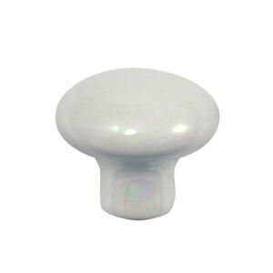 "Laurey Hardware 1 3/8"" Porcelain Knob in Opal"