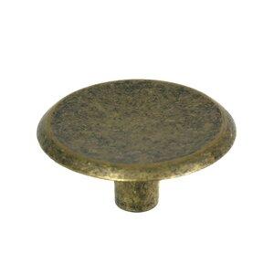 """Laurey Hardware 1 1/2"""" Knob in Antique Brass"""