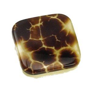 """Laurey Hardware 1 3/8"""" Square Knob in Medium Tortoise"""