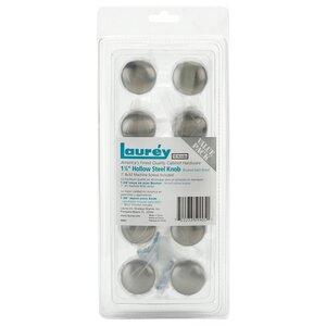 "Laurey Hardware (10 Pack) 1 3/8"" Steel Hollow Knob in Brushed Satin Nickel"