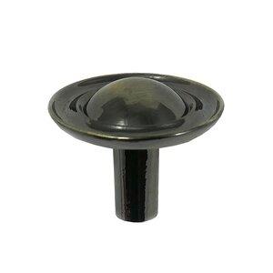 """Laurey Hardware 1 1/4"""" Ambassador Knob in Antique Brass"""