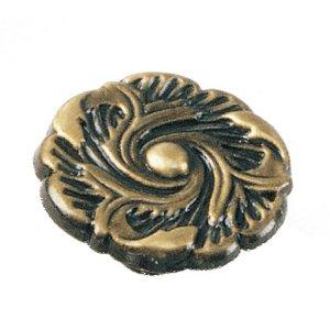 "Laurey Hardware 1 1/2"" Provincial Knob in Antique Brass"