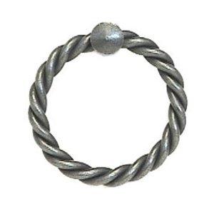 """LB Brass Ring Pull 2"""" in Satin Black"""