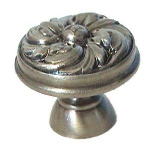 "LB Brass Flower Swirl Knob ( 1.125"" ) in Polished Brass"