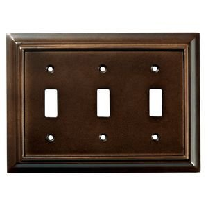 Liberty Kitchen Cabinet Hardware - Wood Architectural Triple Toggle in Espresso