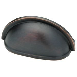 Liberty Hardware 3 Plain Cup Pull in Bronze With Copper Highlights