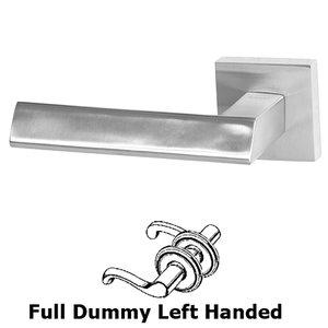Linnea Hardware Double Dummy Left Handed Door Lever in Satin Stainless Steel