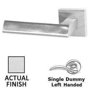 Linnea Hardware Single Dummy Left Handed Door Lever in Polished Stainless Steel