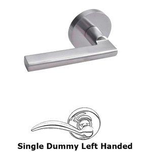 Linnea Hardware Single Dummy Left Handed Door Lever in Satin Stainless Steel