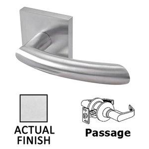 Linnea Hardware Passage Door Lever in Polished Stainless Steel