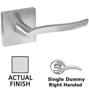 Linnea Hardware Single Dummy Right Handed Door Lever in Polished Stainless Steel