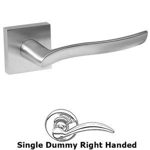 Linnea Hardware Single Dummy Right Handed Door Lever in Satin Stainless Steel