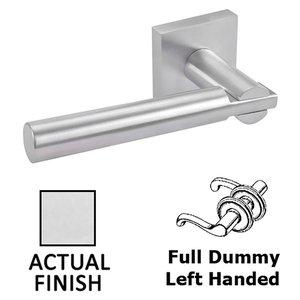 Linnea Hardware Double Dummy Left Handed Door Lever in Polished Stainless Steel