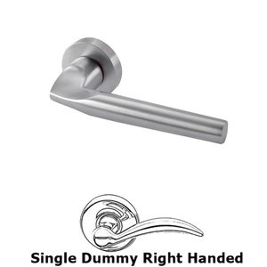 Linnea Hardware - Single Dummy Right Handed Door Lever in Satin Stainless Steel