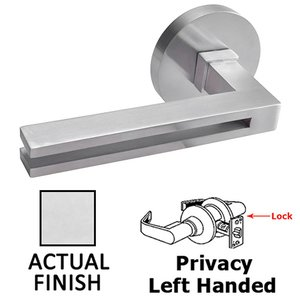 Linnea Hardware Privacy Left Handed Door Lever in Polished Stainless Steel