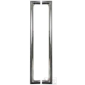 "Linnea Hardware 23 5/8"" Centers Back to Back Tubular Appliance/Shower Door Pull in Polished Stainless Steel"