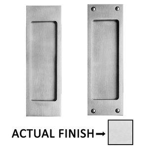 "Linnea Hardware 8 1/4"" Square Dummy Pocket Door Lock in Polished Stainless Steel"