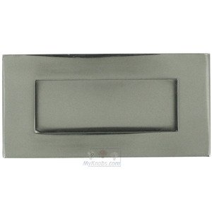 "Linnea Hardware 4"" Rectangular with Rectangle Cut-Out Recessed Pull in Polished Stainless Steel"