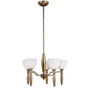 "Lite Source - Daffodil 37"" Tall Chandelier in Bronze"