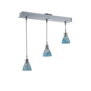 """Lite Source 23 1/2"""" Tall Pendant in Polished Steel"""