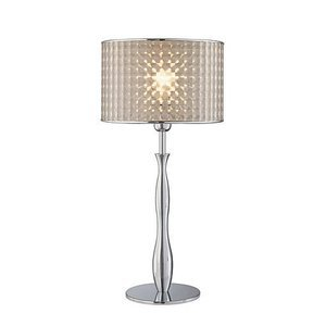 """Lite Source 25"""" Tall Table Lamp in Chrome"""