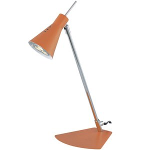 """Lite Source 14 3/4"""" Tall LED Desk Lamp in Orange with Chrome"""