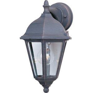 "Maxim Lighting 8"" Cast 1-Light Outdoor Wall Lantern in Rust Patina"