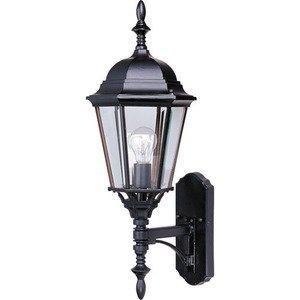 "Maxim Lighting 9 1/2"" Cast 1-Light Outdoor Wall Lantern in Empire Bronze"