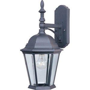 """Maxim Lighting 9 1/2"""" Cast 1-Light Outdoor Wall Lantern in Black"""