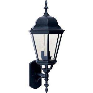"""Maxim Lighting 13"""" Cast 3-Light Outdoor Wall Lantern in Black"""