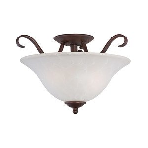 Maxim Lighting Semi Flush Mount in Oil Rubbed Bronze with Ice Glass