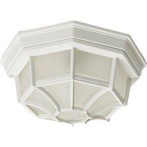 "Maxim Lighting 11 1/2"" 2-Light Outdoor Ceiling Mount in White"