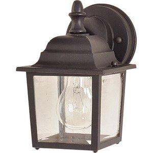 "Maxim Lighting 5 1/2"" 1-Light Outdoor Wall Lantern in Empire Bronze"