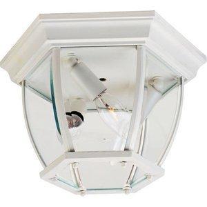 "Maxim Lighting 11"" 3-Light Outdoor Ceiling Mount in White"