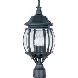 "Maxim Lighting 8"" 3-Light Outdoor Pole/Post Lantern in Black"