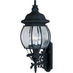 "Maxim Lighting 11"" 4-Light Outdoor Wall Lantern in Black"