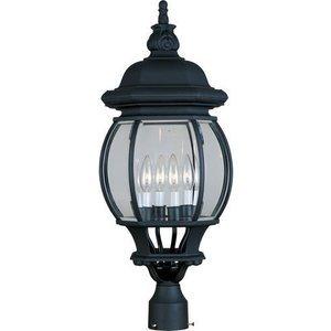 "Maxim Lighting 11"" 4-Light Outdoor Pole/Post Lantern in Black"