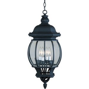 "Maxim Lighting 11"" 4-Light Outdoor Hanging Lantern in Black"
