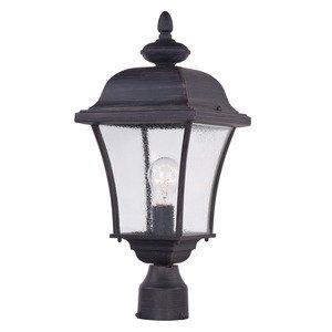 "Maxim Lighting 9"" 1-Light Outdoor Pole/Post Lantern in Rust Patina"