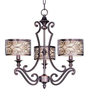 Mondrian 24 12 3 light single tier chandelier in umber bronze maxim lighting 24 12 mondrian 3 light single tier chandelier aloadofball Image collections