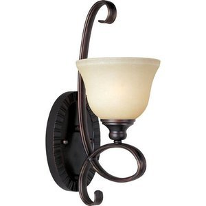 "Maxim Lighting 6 1/2"" 1-Light Wall Sconce in Oil Rubbed Bronze with Wilshire Glass"