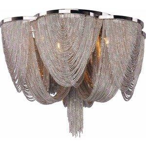 Maxim Lighting Chantilly 6-Light Flush Mount in Polished Nickel