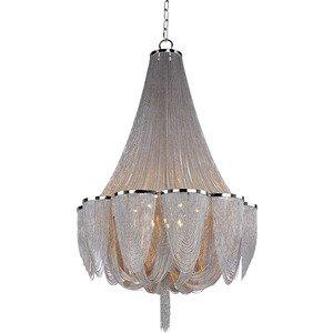 Maxim Lighting Chantilly 14-Light Chandelier in Polished Nickel