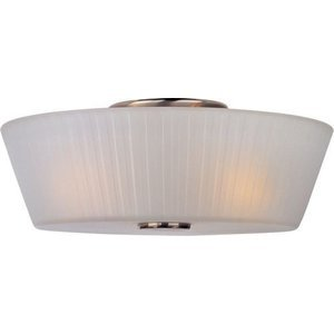 "Maxim Lighting 13 1/4"" 3-Light Flush Mount in Satin Nickel with Frosted Glass"