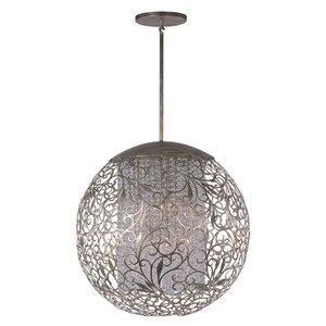 Maxim Lighting Single Pendant in Golden Silver with Beveled Crystal Glass