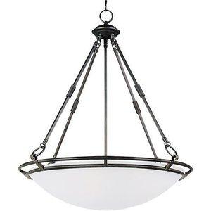 "Maxim Lighting 24 1/2"" 5-Light Invert Bowl Pendant in Bronze with Marble Glass"