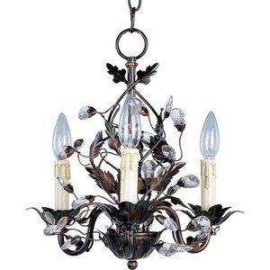 "Maxim Lighting 14"" 3-Light Chandelier in Oil Rubbed Bronze"