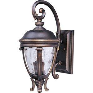 "Maxim Lighting 8 1/2"" 2-Light Outdoor Wall Lantern in Golden Bronze with Water Glass"